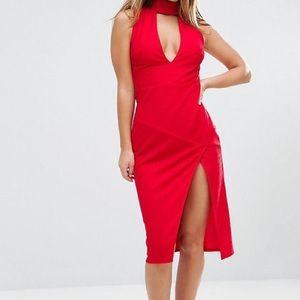 ASOS red bandage dress